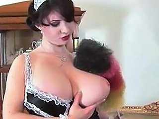 Big Tits Maid  Natural Uniform       Big Tits Brunette Tits Maid