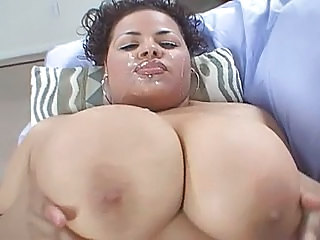 latina cum facial Big tits