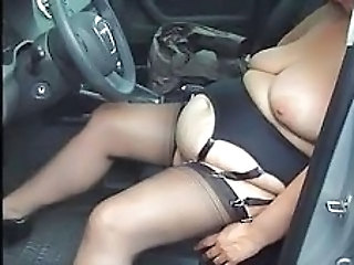 Amateur  Car  Stockings Wife    Car Tits Stockings Amateur