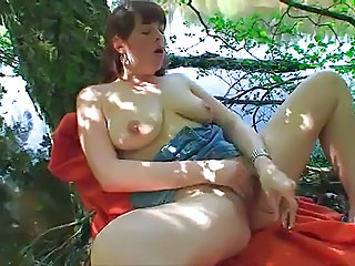 Chubby Masturbating Natural Outdoor  Solo Toy Outdoor Masturbating Outdoor Masturbating Toy
