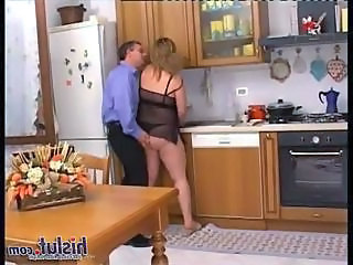 Kitchen Lingerie  Wife     Blonde Mature Lingerie Kitchen Mature