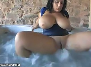 Big Tits  Natural Pool Shower Tits