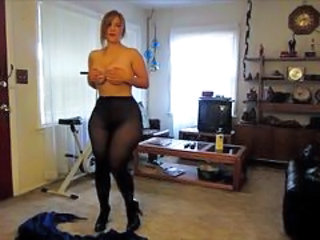 Chubby Homemade  Pantyhose Chubby Ass Pantyhose