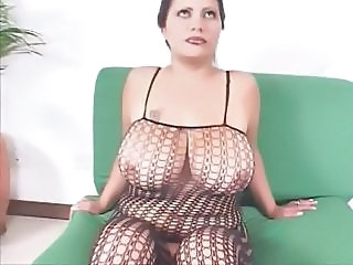 Big Tits Chubby Fishnet Lingerie  Natural  Big Tits Chubby Fishnet Lingerie
