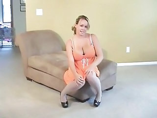 Big Tits  Natural Pantyhose Solo     Pantyhose