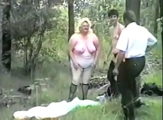 Mature outdoor gangbangs