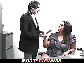 Ebony Glasses Interracial  Office Secretary Ebony Ass Fat Ass     Married