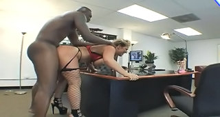 Doggystyle Fishnet Hardcore Interracial  Office Pornstar Secretary  Fishnet