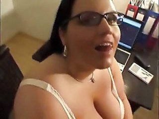 Cumshot Glasses  Office Pov Secretary Swallow   Cumshot Ass Handjob Cumshot