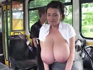 Big Tits Bus  Natural Public