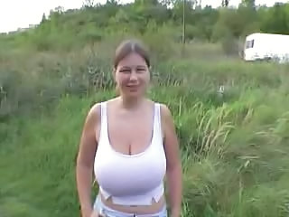 Big Tits Chubby Natural Outdoor Pov Public Wife Boobs