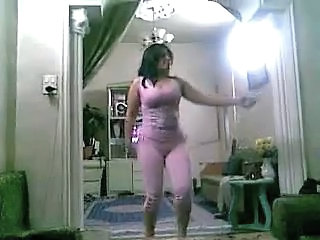 Amateur Arab Chubby Dancing Homemade Wife Arab