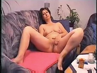Amateur Chubby European German Homemade Masturbating Mature  Wife German
