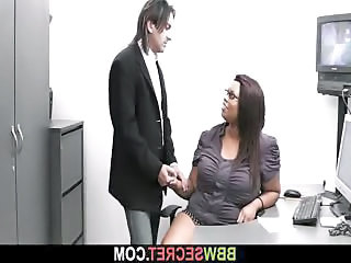 Ebony Glasses Interracial  Natural Office Secretary Boss Married