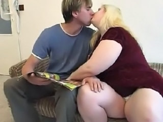 Blonde Kissing  Mom Old and Young