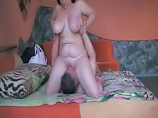 Amateur  Big Tits Facesitting Homemade Licking Natural Older  Wife