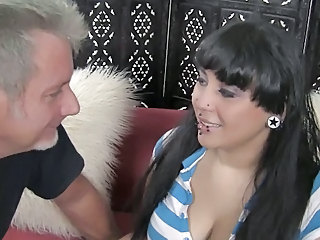 Brunette Chubby Daddy Old and Young Piercing Teen
