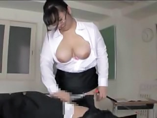 Asian Chubby Glasses Handjob Japanese   School Teacher