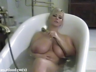 Bathroom  Big Tits  Natural  Polish