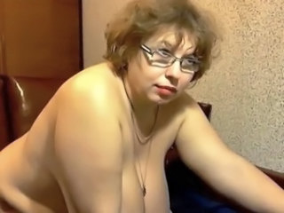 Big Tits Glasses Mature Mom Natural Russian Webcam