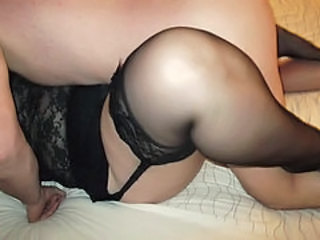 Amateur  Homemade Older Stockings Wife
