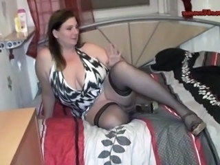 Amateur  Big Tits European German Mature Mom Natural  Stockings