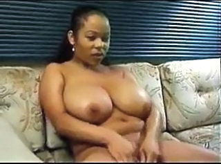 Amateur Big Tits Chubby Ebony Masturbating  Natural