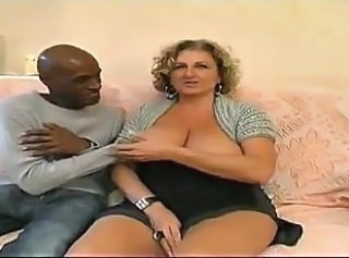 Big Tits Chubby European French Interracial  Natural French