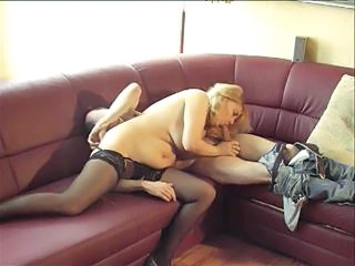 Amateur  Blowjob Homemade Mature Older Stockings Wife