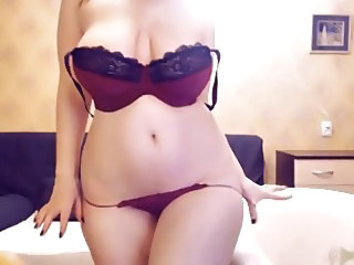 Amazing Big Tits Chubby Lingerie Natural Panty  Solo Stripper Webcam