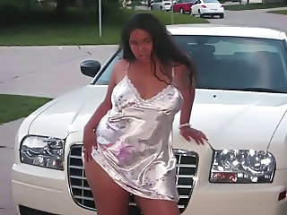 Amateur  Car Outdoor Public Teen