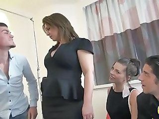 Amateur Chubby European French  Mom Old and Young French