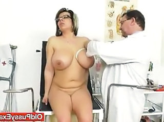 Big Tits Doctor Glasses  Natural Gyno