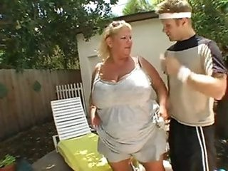 Big Tits Mature Mom Old and Young Outdoor