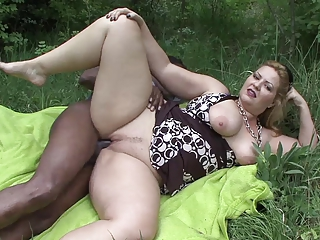 Interracial Mature Outdoor