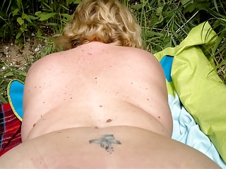 Ass  Mature Outdoor Wife